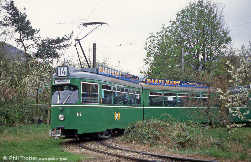 Car 615 at Muttenz on 16th April 1992.