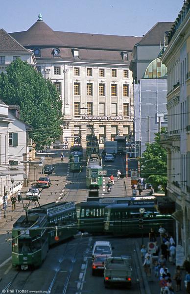 A busy scene in Barfusserplatz on 31st July 1993.