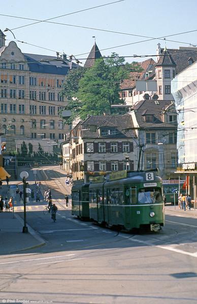 Car 628 in Barfusserplatz on 7th September 1989.