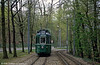 Car 444 in the woods at Jakobsberg on 15th April 1992.