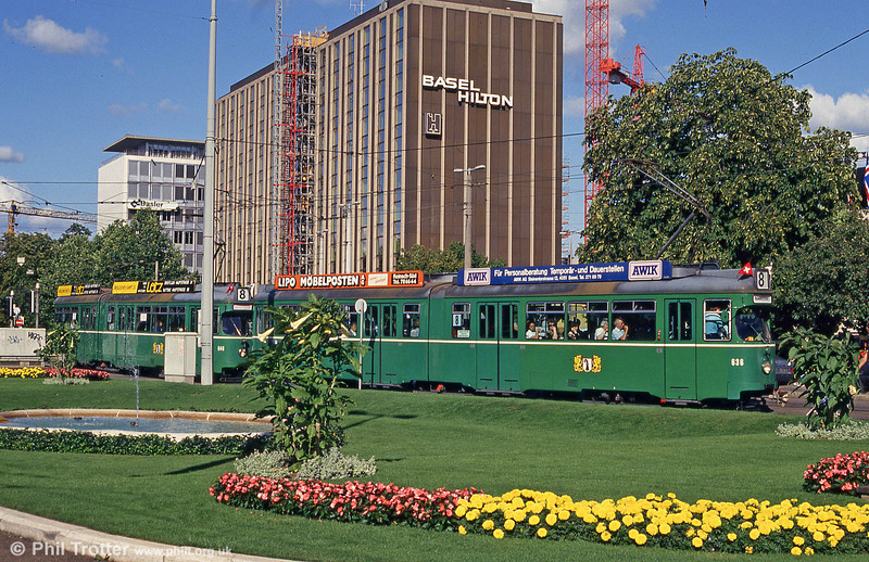 Car 636 at the Hauptbahnhof on 31st July 1993.