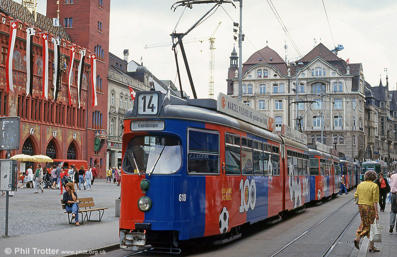 Car 611 at Marktplatz on 31st July 1993.