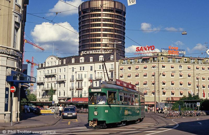Car 639 near the Hauptbahnhof on 31st July 1993.