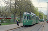 Competition time: how many green things can you spot in this photo? Basel car 402 at Eglisee on 15th April 1992.
