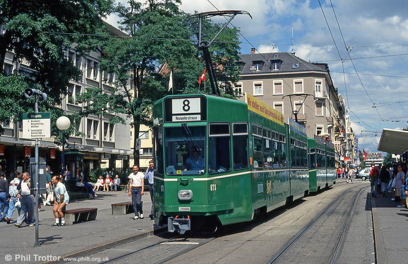 Basel 673 at Claraplatz on 31st July, 1993.