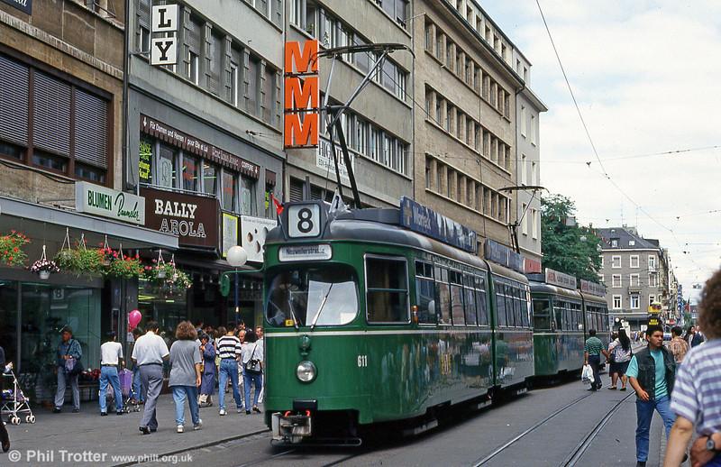 Car 611 at Rheingasse on 31st July 1993.