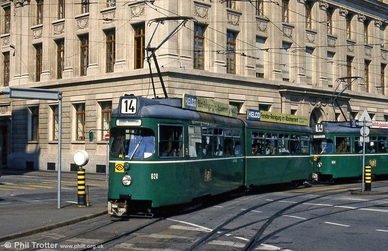 Car 620 at Aeschenplatz on 7th September 1989.