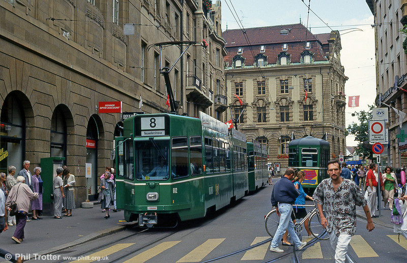 Car 662 at Barfusserplatz on 15th April 1992.