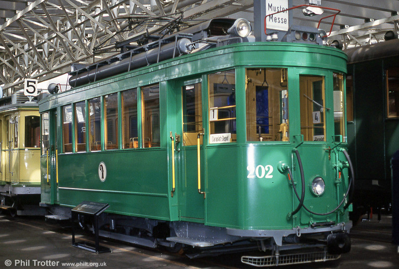 Basel 202 of 1931 preserved at Lausanne museum on 19th April 1992.