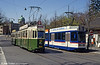 Cars 604 and RBS 82 at Helvetiaplatz on 13th April 1992.