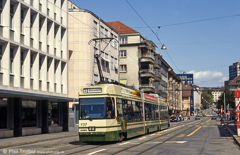 Car 737 at Eigerplatz on 13th April 1992.