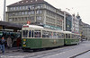 Car 627 at the Hauptbahnhof on 13th April 1992. Note the tightrope walking bear; the bear is the symbol of Bern.