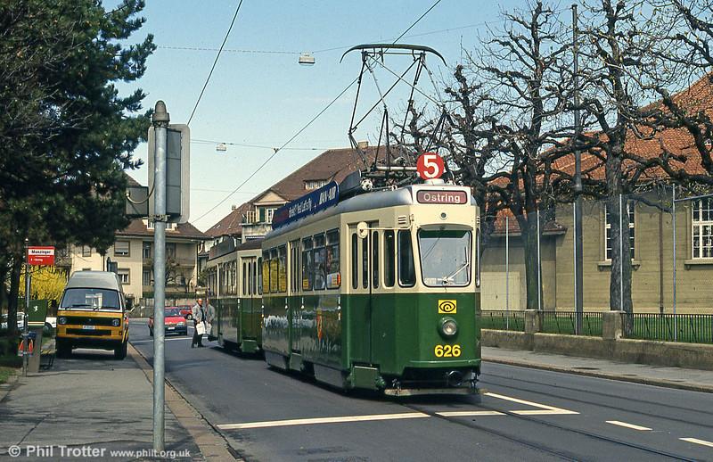 Car 626 at Munzinger on 13th April 1992.