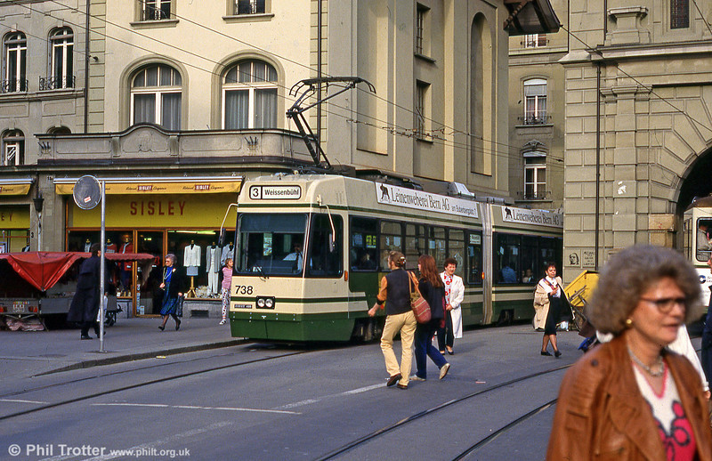 Car 738 at Bärenplatz on 14th April 1992.