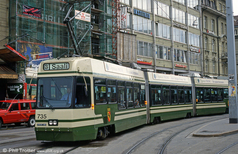 Car 735 at the Hauptbahnhof on 13th April 1992.