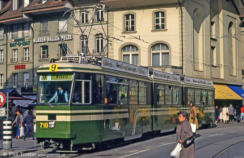 Car 718 at Bärenplatz on 13th April 1992.