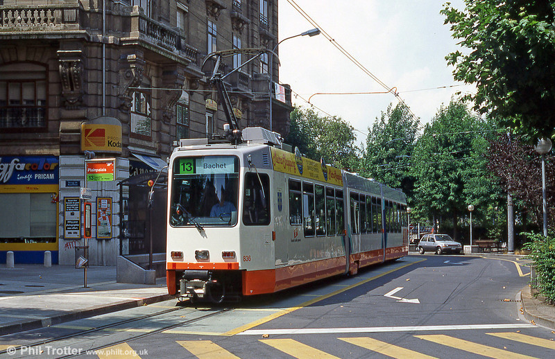 Car 836 at Plainpalais in August 1995.