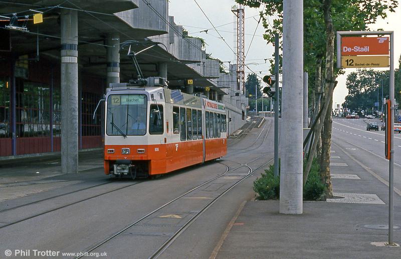 Car 806 outside Bachet depot, De Stael, on 4th September 1989.