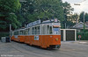 Preserved Swiss 'standard tram' 729 of 1952 in as-withdrawn livery and preserved by AGMT on 4th September 1989.