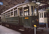 Geneva car 63, one of a series of fifteen cars built in 1901 {rebuilt 1939), numbered 51 to 54 and 60 to 70. It was withdrawn in 1970. Seen at the Paris Transport Museum in July 1984.