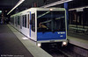 Vevey car 209  of 1990 at the underground terminus at Lausanne Flon.