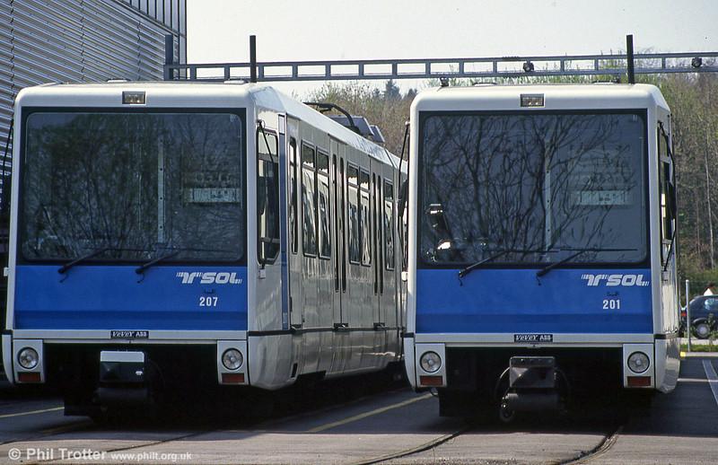 Cars 207 and 201 at Dorigny depot.