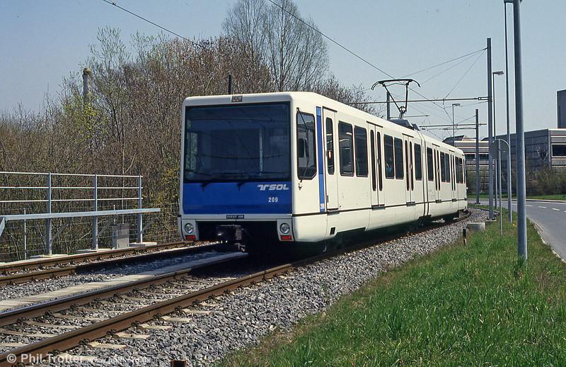 Car 209 approaching EPFL.