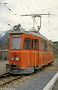 Car 6 was fitted with a diesel generator for shunting and latterly worked as diesel only. It was scrapped in 1999. Meiringen, 19th April 1992.