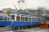 Zurich 1346 of 1931 now preserved as a 'tourist tram' at Kalkbreite Sidings, Zurich, on 17th April 1992.