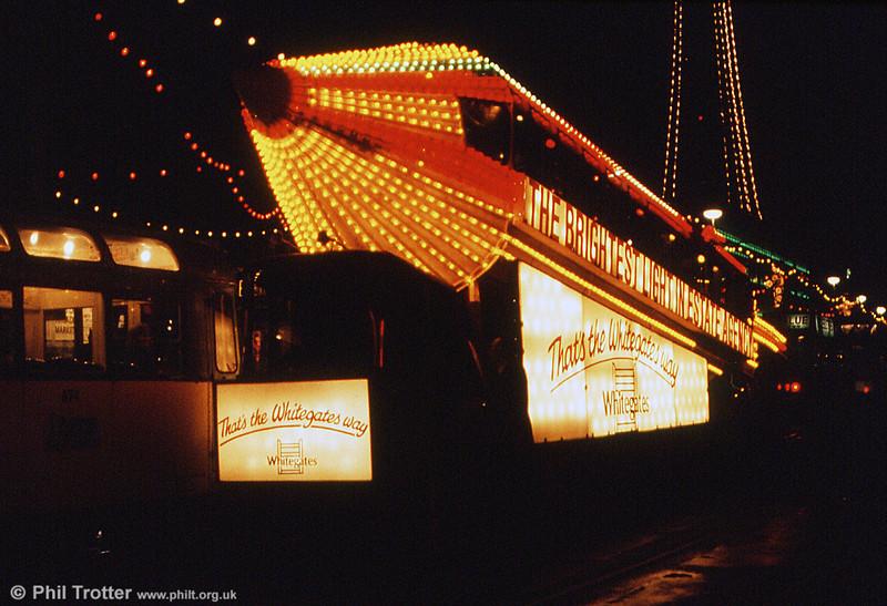 Illluminated 'Rocket' car 732 at Talbot Square on 27th October 1990.