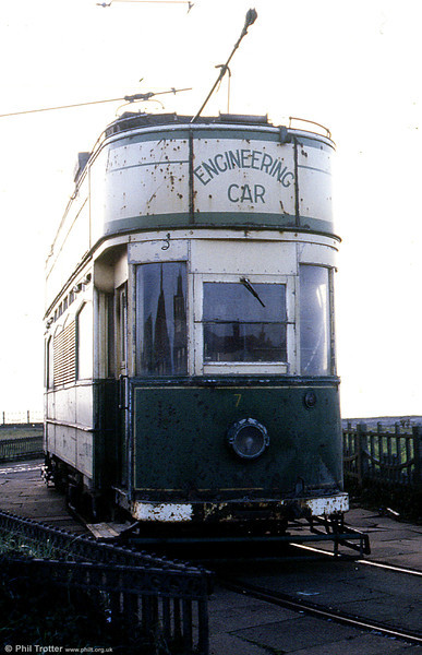 Another view of Overhead Line Car 753 at Little Bispham in October 1984.