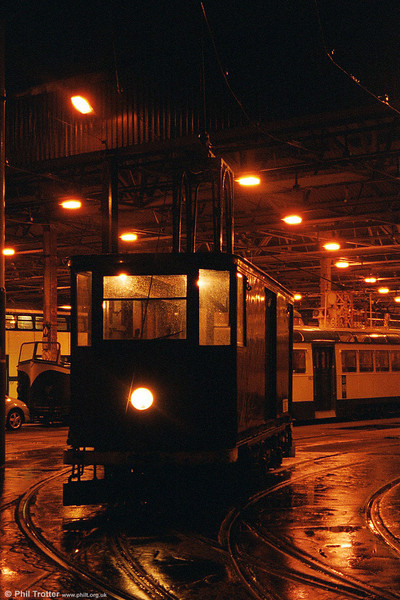 A second night shot of railgrinder 752 in August 2002.