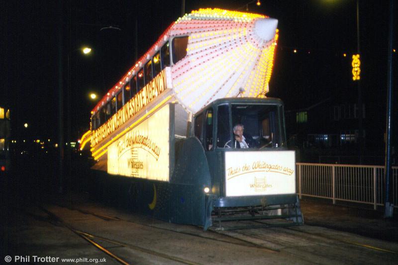 Illuminated car 732 at Bispham on 7th November 1992.