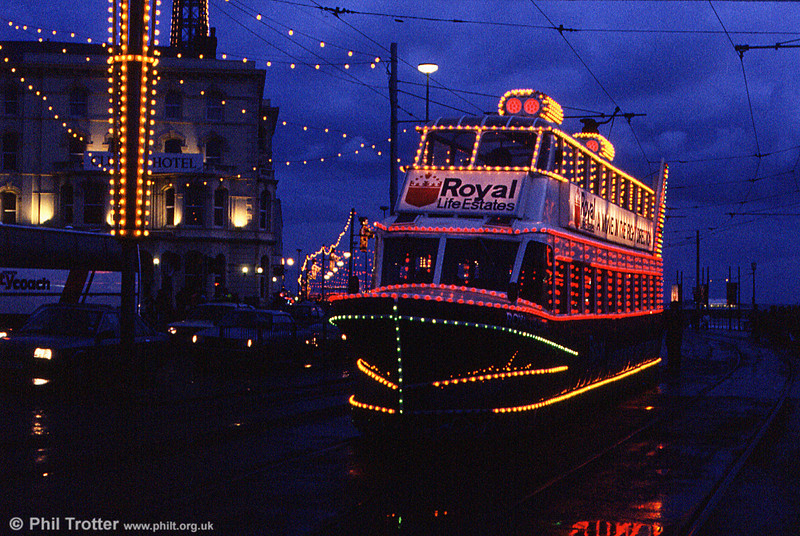 A second look at 'Hovertram' 735 at Talbot Square on 27th October 1990.