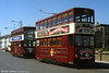 Birkenhead/Hong Kong cars 69 and 70 in Bold Street, Fleetwood  on 30th April 1994.