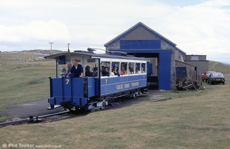 Car 7 at Half Way on 5th September 1990.