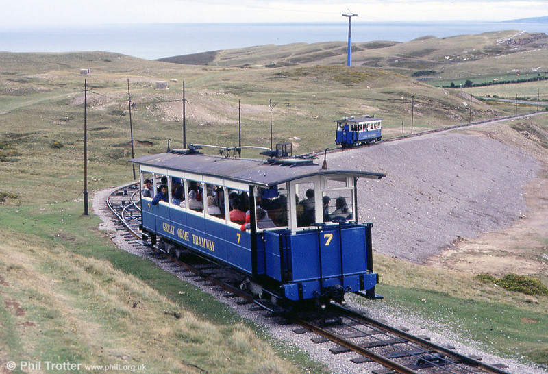 Two cars are seen on the upper section on 5th September 1990.