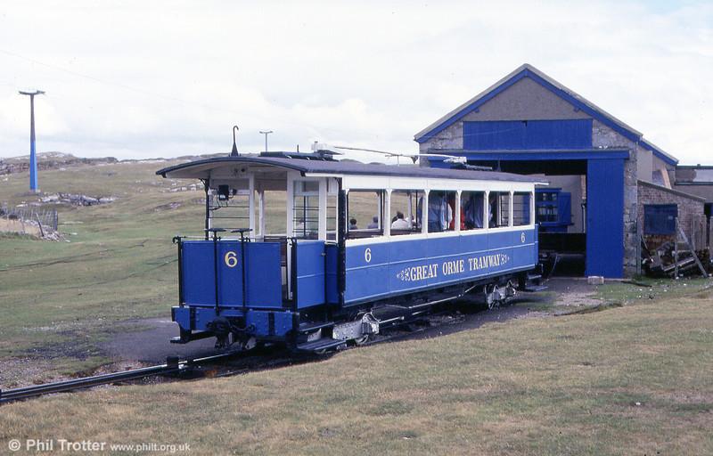 Car 6 at Half Way on 5th September 1990.
