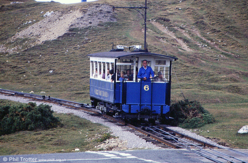 Car 6 approaches Half Way on 5th September 1990.