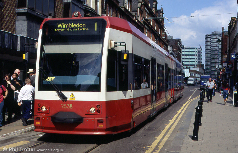 Croydon Bombardier CR-4000 car 2538 in George Street on 15th May 2004.