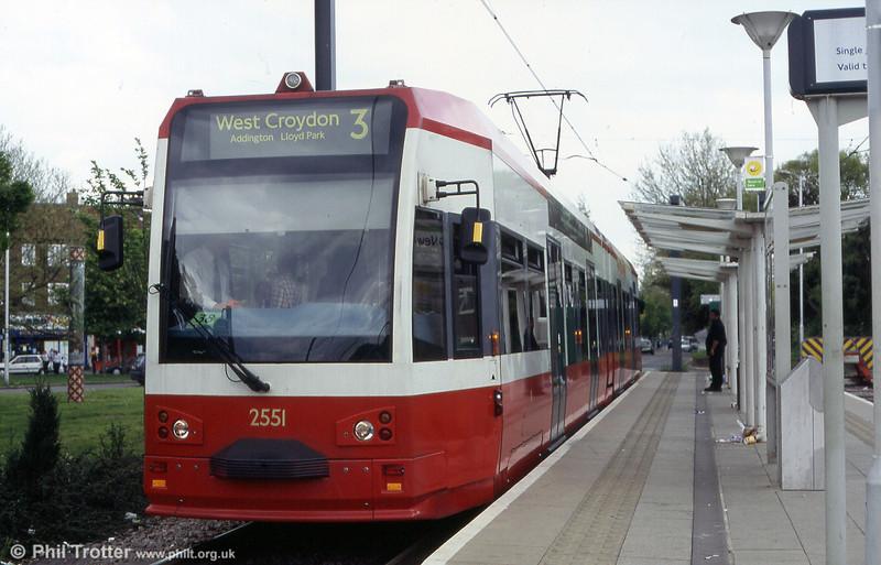 2551 waits time at New Addington on 2547 at Addiscombe on 15th May 2004.