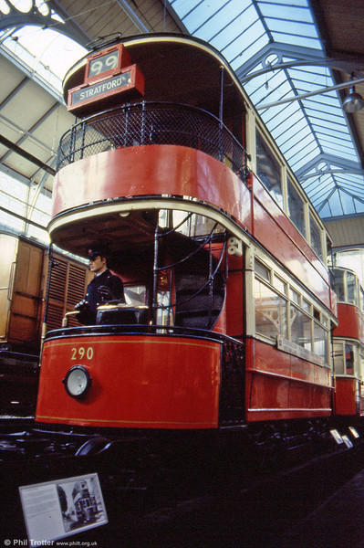 Formerly West Ham 102, LPTB 290 was one of a batch of six built in 1910 and is seen at the LT Museum in 1989.