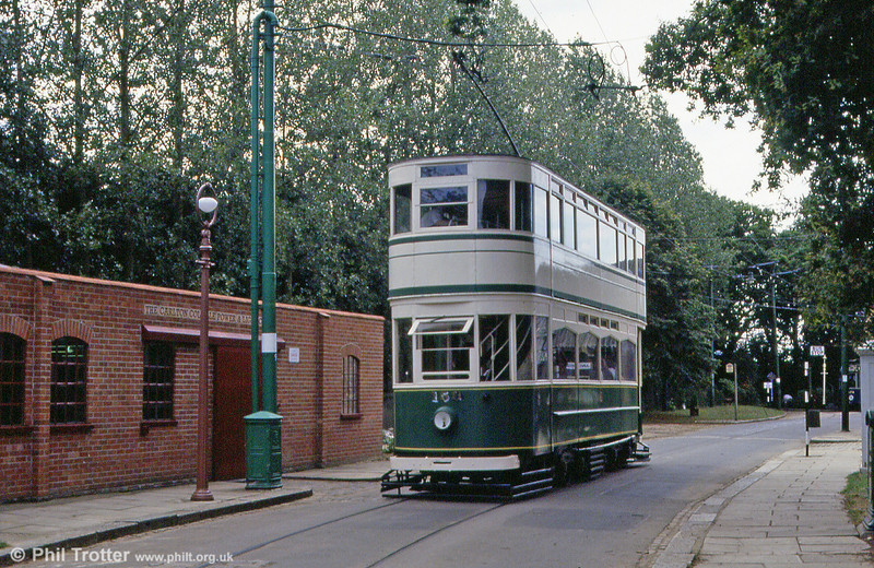 Blackpool Standard 159 in operation near the Carlton Colville Power and Light Company building at the EATM on 2nd September 1990.