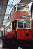 LT E/1 car 1025 of 1908 at the London Transport Museum in 1989. This was the UK's most numerous tramcar type, with over 1000 seeing service in London; only two survive.