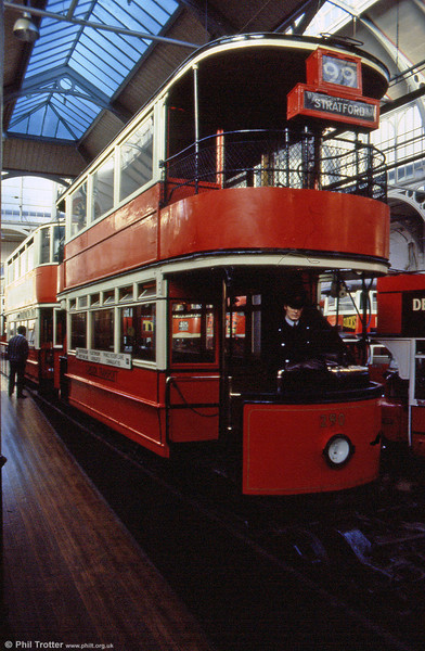 A second view of LPTB 290 at the LT Museum during 1989.