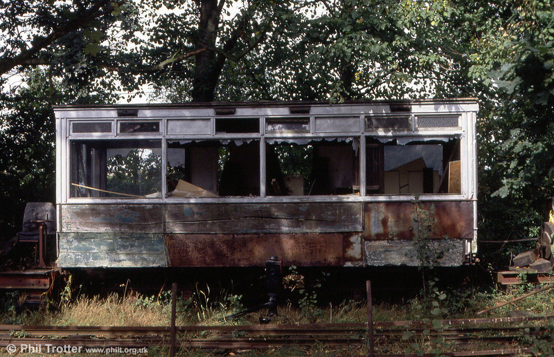 An unidentified lower deck tram body - but possibly Norwich 39 - at the EATM on 2nd September 1990.