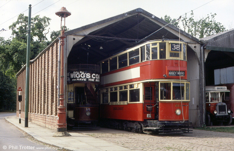 London HR2 car 1858 emerges from the EATM's tram depot on 2nd September 1990.