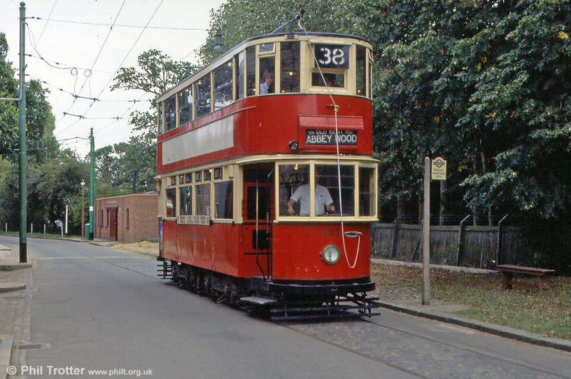 London HR2 car 1858 built by English Electric in 1930 in operation at the EATM on 2nd September 1990.