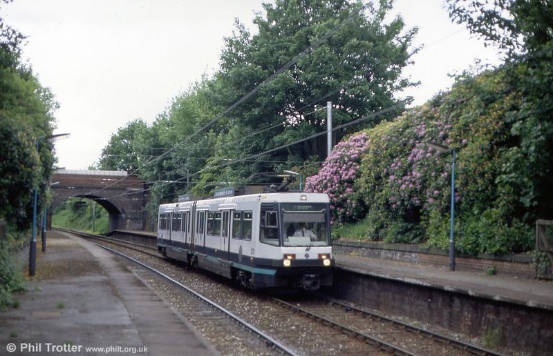 Metrolink Firema T68 car 1011 at Heaton Park on 5th June 1994.