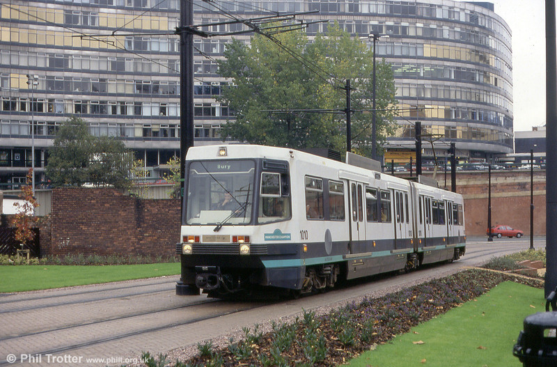 1010 'Manchester Champion' near Piccadilly Station on 2nd October 1993.